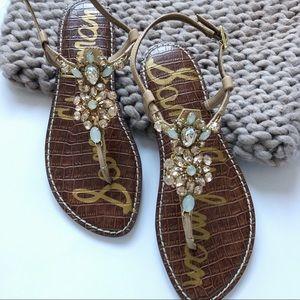 Sam Edelman Grayson Embellished Thong Sandal NWB